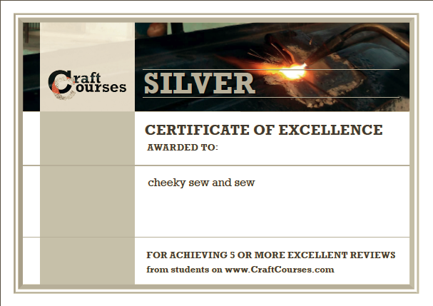 Craft Courses Certificate of Excellence